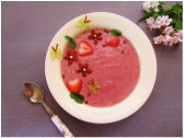 Red Berry Smoothie Bowl - Get the Recipe at www.beverleynoseworthy.ca